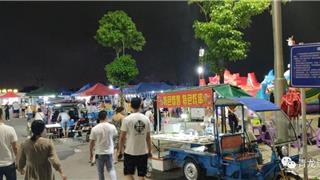 龙港新城月湖公园夜市 人气十足